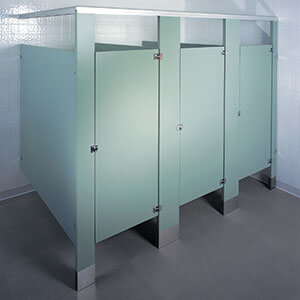 Toilet Partitions MDP Partitions Lockers And More - Plastic bathroom partitions